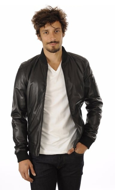 bombers-cuir-homme